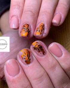 Fall Leaf Nail Art Designs - Fall leaves on nails right now are super-trendy. We searching for 60 best examples. Be ready to get inspiration! Neon Nail Art, Neon Nails, Sunflower Nail Art, Long Gel Nails, Nail Effects, Beautiful Nail Designs, Gel Nail Designs, Artificial Nails, Creative Nails