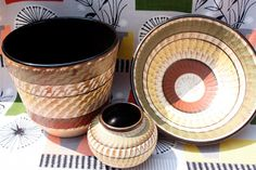 1960s west German Dumler and Brieden planter, bowl, and vase