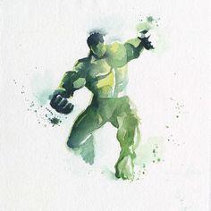 Os incríveis heróis de aquarela, por Blule