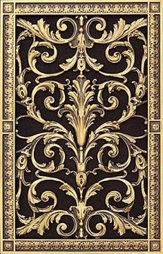 Decorative Vent Cover, Grille, Made of Urethane Resin in Louis XIV, French Style fits Over a Total Size, by for Wall & Ceiling Installation only. Louis Xiv, Antique Hardware, Antique Brass, Wall Vent Covers, Ceiling Installation, Gate Design, Villa Design, 3d Design, Texture Painting