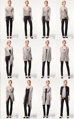 Donna Karen New York produces a sweater for women that is an unclutterer's ideal multipurpose garment.…