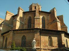 Gimont - Cathedral Notre Dame of Gimont - Gothic building 1331 -  Gers dept. - Midi-Pyrénées région, France      ...www.randonnee.tourisme-gers.com
