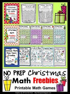 FREEBIES - No Prep Christmas Math Printables