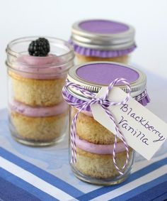 Make vegan cupcake recipe Cake Recipes: Cake In A Jar Recipes: Blackberry Vanilla Cupcakes in a jar