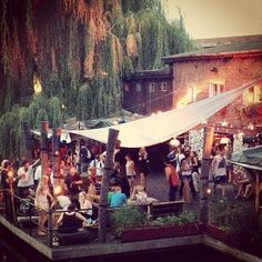 Club der Visionäre in Berlin - you have to go here. it's like a daytime club on the canal.  next to badeschiff.