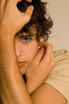 Such blue eyes, and look at his hair, and then his mouth. Don't forget his hands....