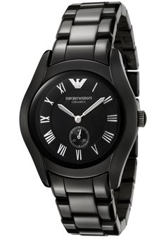 Find out the best features of Emporio Armani Women's Ceramica Black Dial Black Ceramic - Watch Compare brands and specs! Buy online Here and Save Emporio Armani Fast performance and Clever manageability tools. Cheap Watches, Casual Watches, Watches For Men, Armani Models, Discount Watches, Armani Watches, Black Crystals, Quartz Watch, Kisses