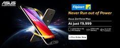 Never Run Out of Power!! Asus Zenfone Max At Just Rs.9,999/-  http://goosedeals.com/home/details/flipkart/118202.html