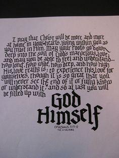 be filled with God himself, kellie moeller @ kelligraphy