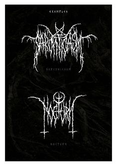 Another chapter of darkness. The XXII Daemon. Text Design, Logo Design, Graphic Design, Death Metal, Metal Font, Design Kaos, Aesthetic Fonts, Anime Scenery Wallpaper, Typography