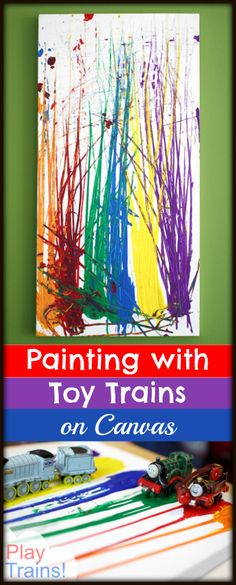 Painting with Trains on Canvas @ Play Trains!