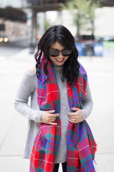RD's Obsessions: Cold Shoulder Sweater, plaid kitty heels, cozy knit sweater, winter fashion, holiday outfit, winter style