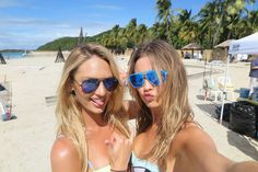 Girls Gone Swimming - Candice Swanepoel and Behati Prinsloo  Behind the scenes of the @victoriassecret Swim Special which filmed in Puerto Rico.  Ready for the great volleyball match that took place at Palomino Island!