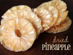 pin it. How to dehydrate pineapple Drying pineappleis a fantastic way to preserve it as a healthy snack. As a mother with two small kids, it's a way I can take a sticky, generally messy fruit and make it a snack safe for the car or for on-the-go! It's...