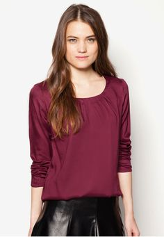 cc2fcc4bfd ESPRIT Silky Tencel Long Sleeve Blouse 長袖襯衫