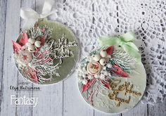 FANTASY: Новогодние открытки - шарики