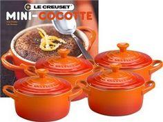 Amazon.com: Le Crueset Mini Cocottes with Cookbook, Soleil, Set of 4: Kitchen & Dining