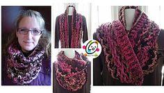 Ravelry: Raspberry Truffle Infinity Scarf pattern by Heidi Yates