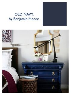 Emily Henderson - Best navy blue paint, inspired by Robert Pattinson: Old Navy by Benjamin Moore