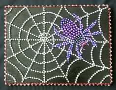 Spider & Web Mardi Gras Bead Mosaic by MuseLane on Etsy