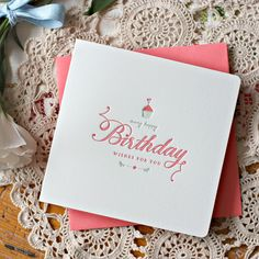 Many Happy Birthday Wishes For You - pink hand lettered hot foil printed greeting card to say happy birthday - for the paper stationery lover - Bespoke Letterpress #letterpress #birthdaycard #stationeryaddict