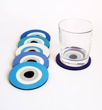 Evil Eye coasters blue set of 6 by Idisti