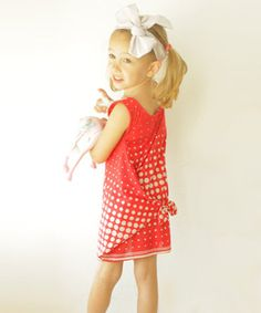 Red Dress PDF sewing pattern by Amelie Clothing (formerly Kikoi Patterns) | The best sewing patterns for women, girls, toys and more. Go To Patterns & Co.