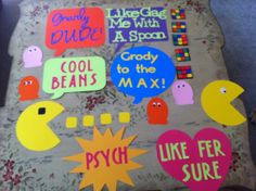 diy 80's party decor | 80's party decorations with my Cricut!!! Love it! ... | 80's Party