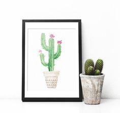 Arte de pared de impresión de cactus Cactus por CinnamonAndLime