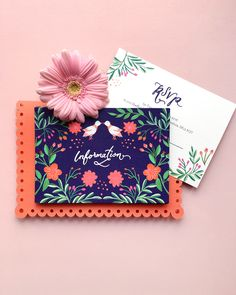 Colorful Mexican Fete-Inspired Wedding Invitations by BerinMade / Oh So Beautiful Paper