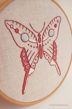 Butterfly embroidery patterns from SeptemberHouse