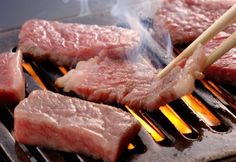 Yakiniku, one of my favorites! Thinly sliced beef and vegetables grilled over a charcoal or gas burner and eaten with a tare (sweetened, thickened soy sauce) dipping sauce