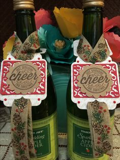 From Cheerful Tags and Here's to Cheers from Stampin Up!