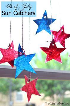4th Of July Star Sun Catchers Kids Craft