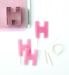 Make Your Own Birthday Candles using cookie cutters