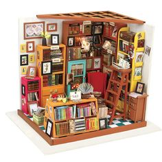Check Discount CUTE ROOM DIY Doll House Miniature Wooden Dollhouse Miniaturas Furniture Toy House Doll Toys for Christmas and Birthday Gift 102 Vitrine Miniature, Miniature Rooms, Miniature Houses, Miniature Furniture, Dollhouse Furniture, Miniature Greenhouse, Miniature Kitchen, Wooden Dollhouse Kits, Diy Dollhouse