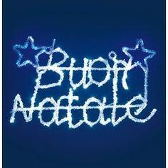 """B3B LUCE DI NATALE CON SCRITTA """"BUON NATALE"""" 52 X 33 cm EFFETTO GHIACCIATO PER USO ESTERNO EXTRA GRANDE! immagini"""