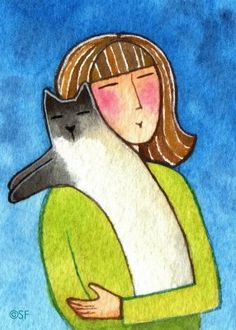 Today I'm interviewing Susan Faye (left), a self-avowed Crazy Cat Lady artist who creates brilliant watercolor portraits of cats and the people who love them. Susan calls the Pacific Northwest her home, and her love of animals and nature is reflected in her gorgeous watercolors. Her popular blog, 365 Cat Ladies, showcases a new Cat …