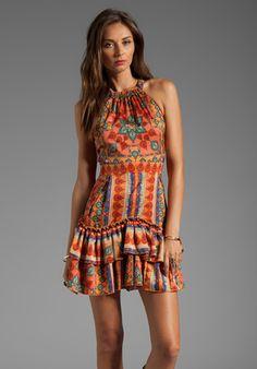 Torn By Ronny Kobo Viviana Dress in Orange - Lyst