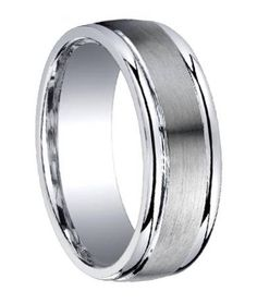 Brilliant Bijou Titanium Grooved and Beaded Edge 6mm Polished Band