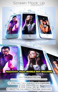 Phone Screen Mock Up #design Download: http://graphicriver.net/item/phone-screen-mock-up/12149062?ref=ksioks