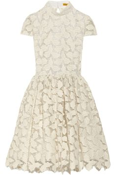 Alice + Olivia | Jayna metallic cotton-blend lace dress