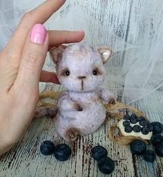 artist teddy Cat Bilberry sweet collectible toy by villaParadisoC