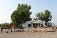 Main St. Spring Coulee, Alta. Old School House, Gas Station, Ghost Towns, The Locals, Gazebo, Maine, Old Things, Outdoor Structures, House Styles