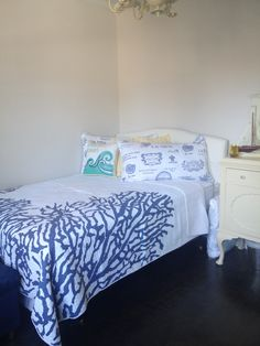 My coastal guest room with French decor
