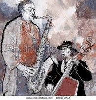 Image result for sax and bass jazz pics to paint
