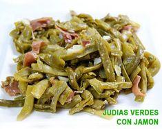 Judías verdes salteadas con jamón