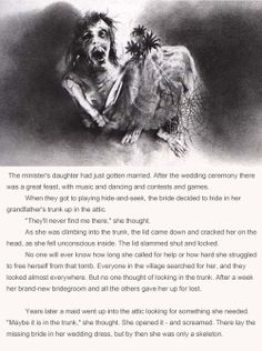 Scary Stories to Tell in the Dark...I remember reading these as a kid...still pretty creepy