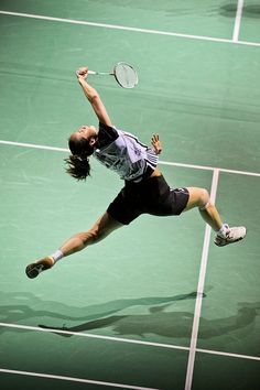 You've got to be pretty flexible to be a mean badminton player!