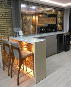 38 Trendy Pallet Mini Bar Design Ideas To Try Bar Counter Design, Kitchen Bar Design, Café Bar, Beer Bar, Bar Unit, Modern Home Bar, Home Bar Decor, Home Bar Designs, Simple House